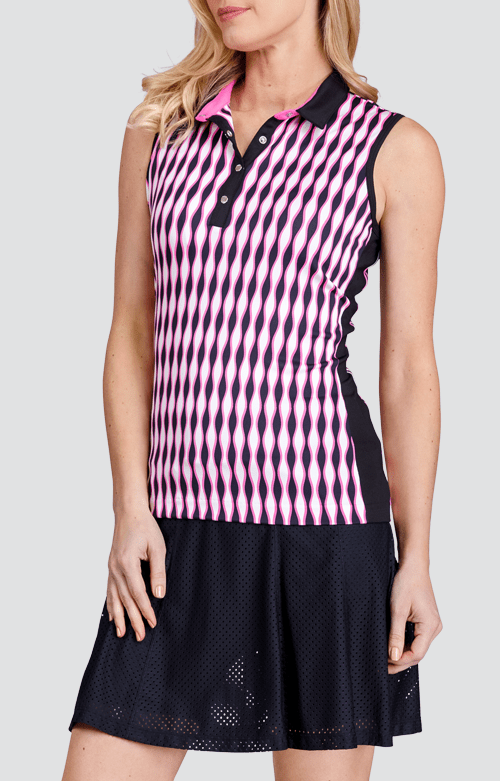 Katelynn Top - Wave Stripe Print