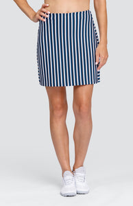 "Neo Skort - Veranda Stripe - 18"" Outseam"