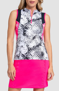 Skye Top - Tropical Print Dark