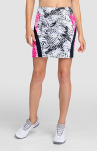 "Hadassah Skort - Tropical Print Dark- 18"" Outseam"