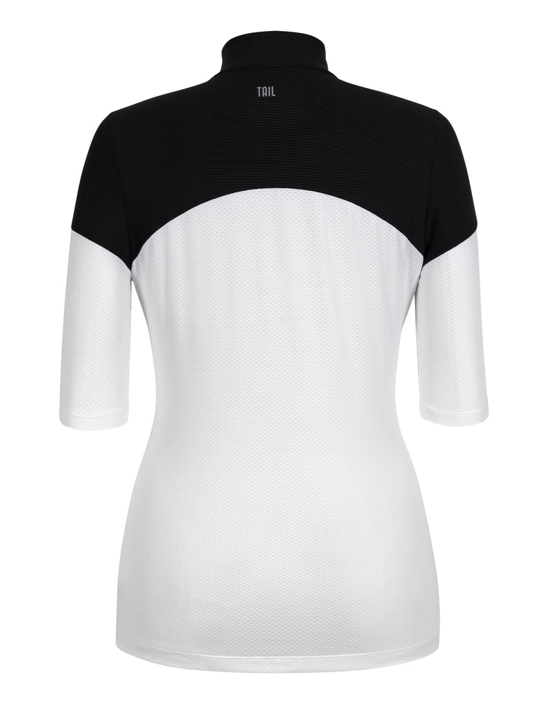 "Erika Top - White - 12"" Sleeve Length"
