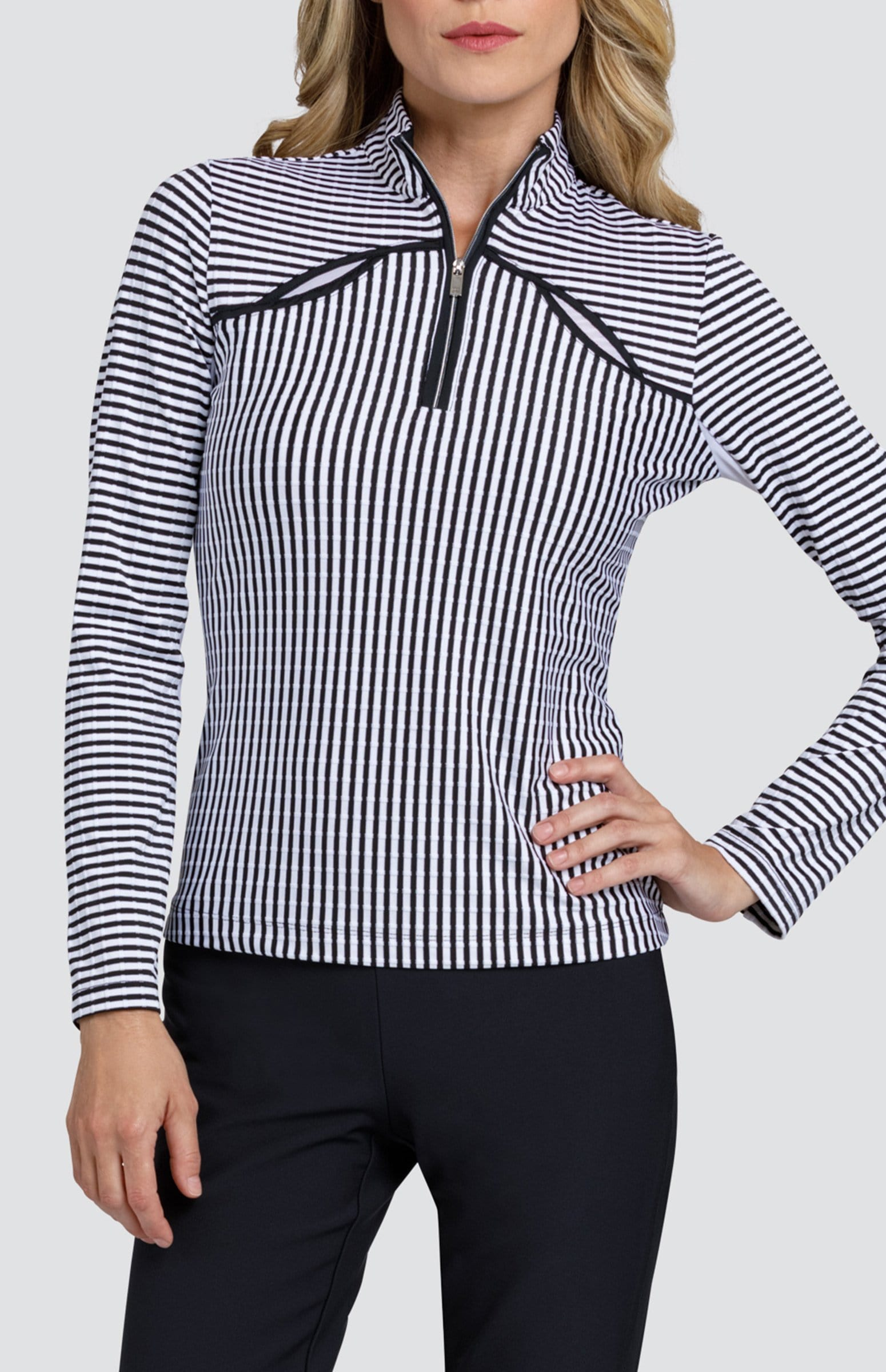 Galilea Top - Stripe Jacquard