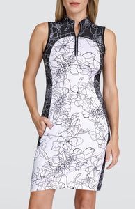 Giselle Dress - Etched Floral Light