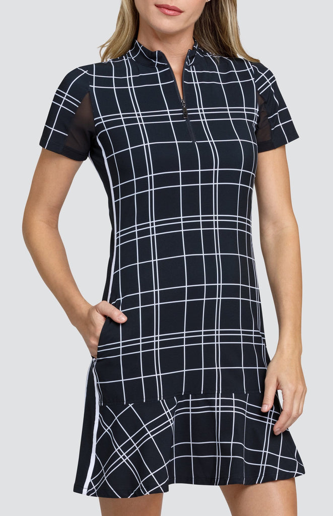 Emma Dress - Windowpane Plaid