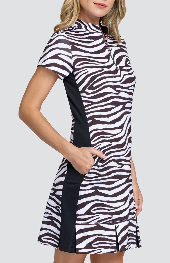 Oliva Dress - Zebra Depths