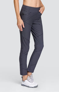 Samaiya Ankle Pant - Spliced Pin Stripe