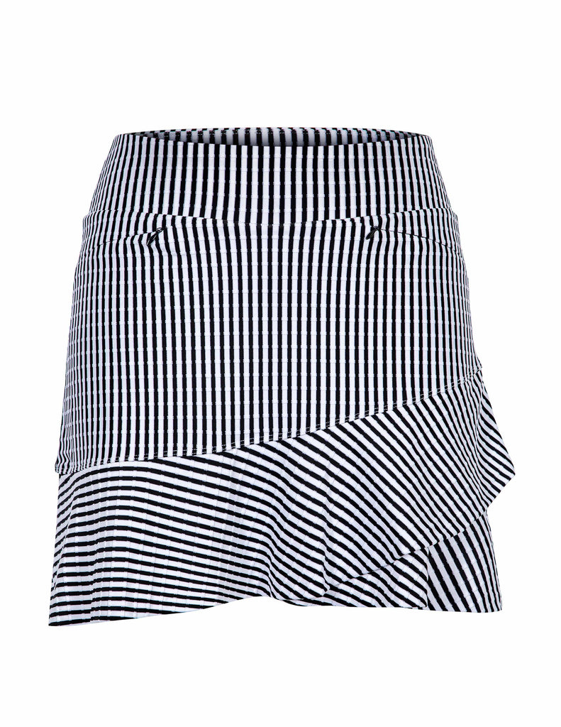 "Kiana Skort - Stripe Jacquard - 18"" Outseam"