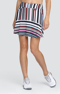 "Honor Skort - Variegated Stripe - 18"" Outseam"