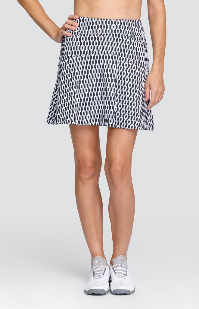 "Mari Skort - Chain Jacquard - 18"" Outseam"