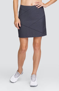"Angela Skort - Spliced Pin Stripe - 18"" Outseam"