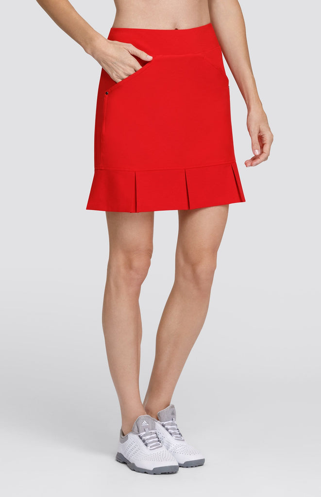 "Jocelyn Skort - Red - 19"" Outseam"