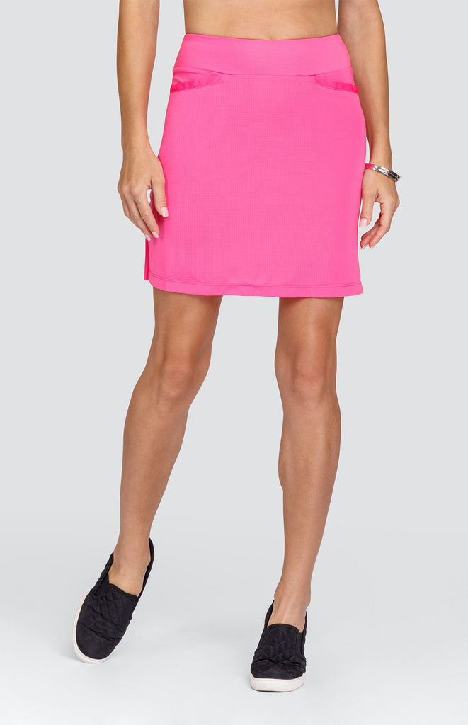 "Lisbeth Skirt - Spiced Coral - 18"" Outseam"