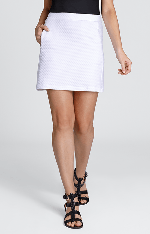Elevation White Textured Skort - 18