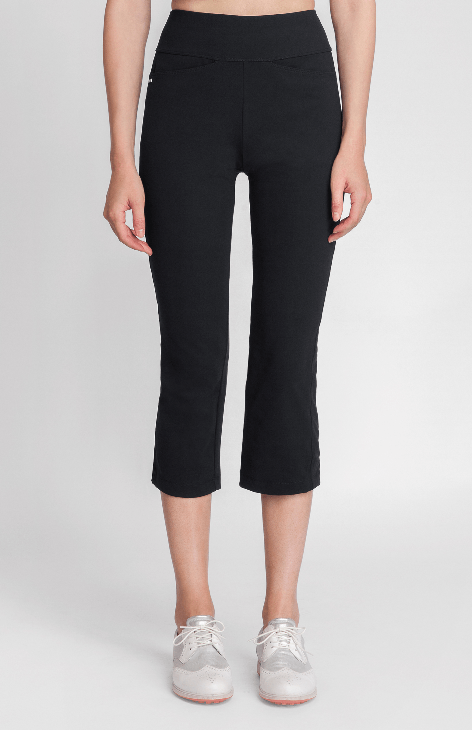 Horizon Black Comfort Knit Capri - FINAL SALE