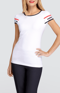 Kayleigh Cap Sleeve Top - White