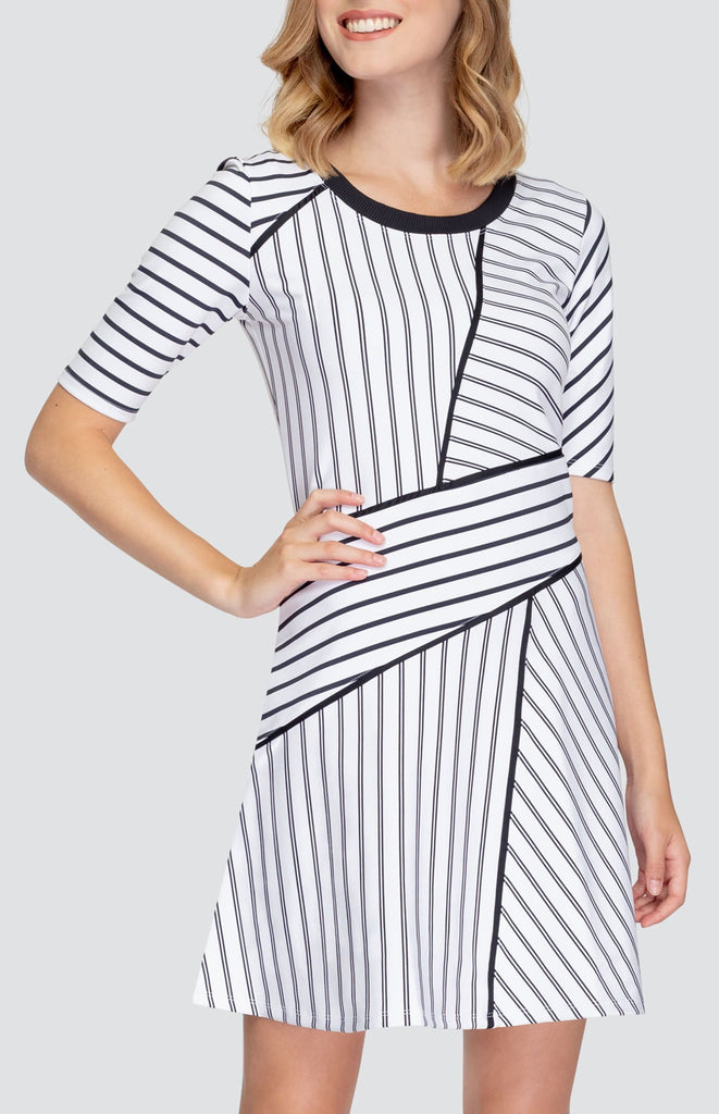 Lilliana Dress - Pinstripe