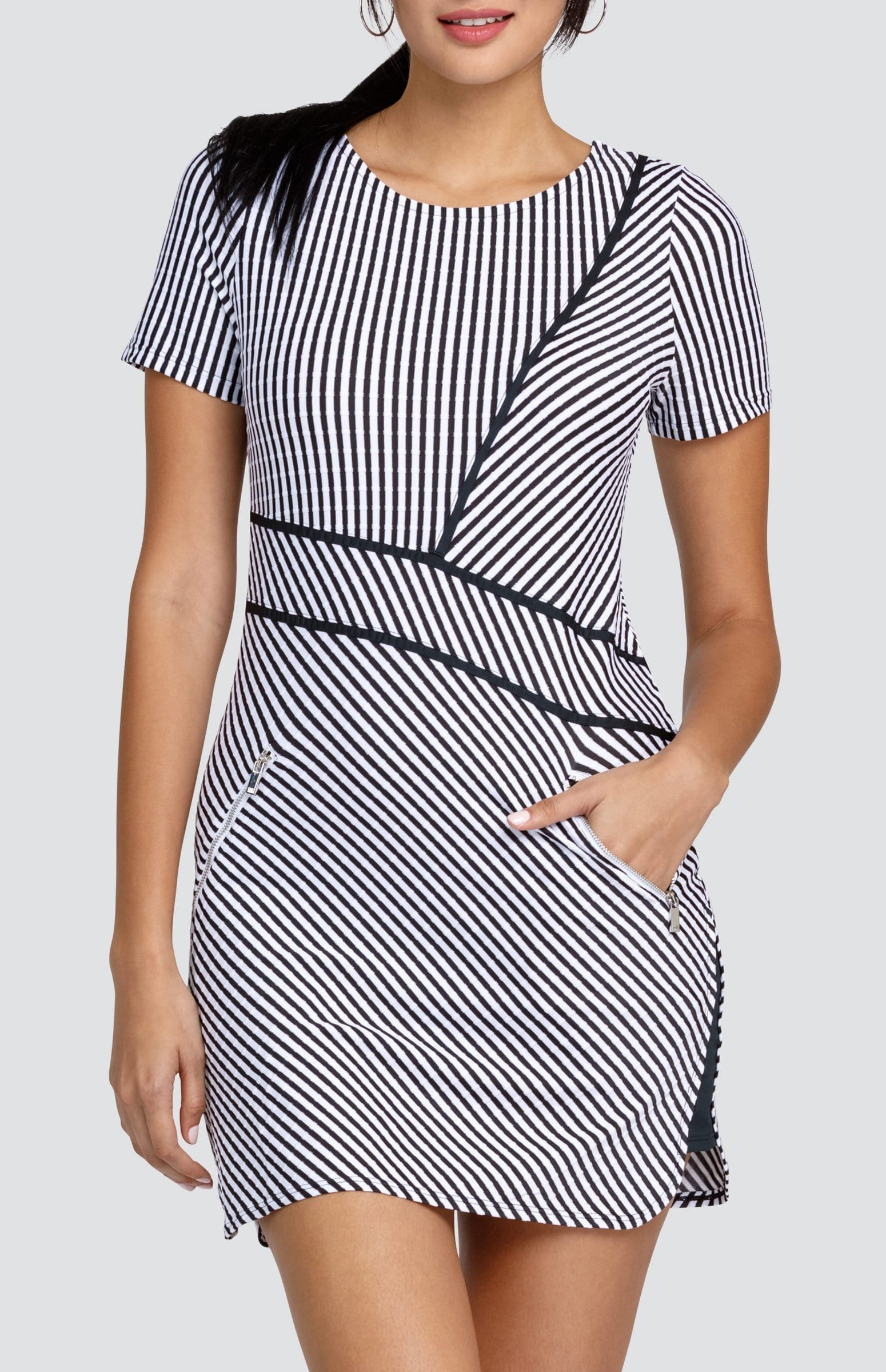 Lilyanna Dress - Stripe Jacquard