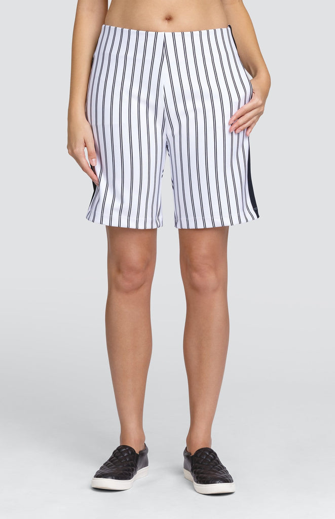 "Jodi Short - Double Pinstripe - 18"" Outseam"