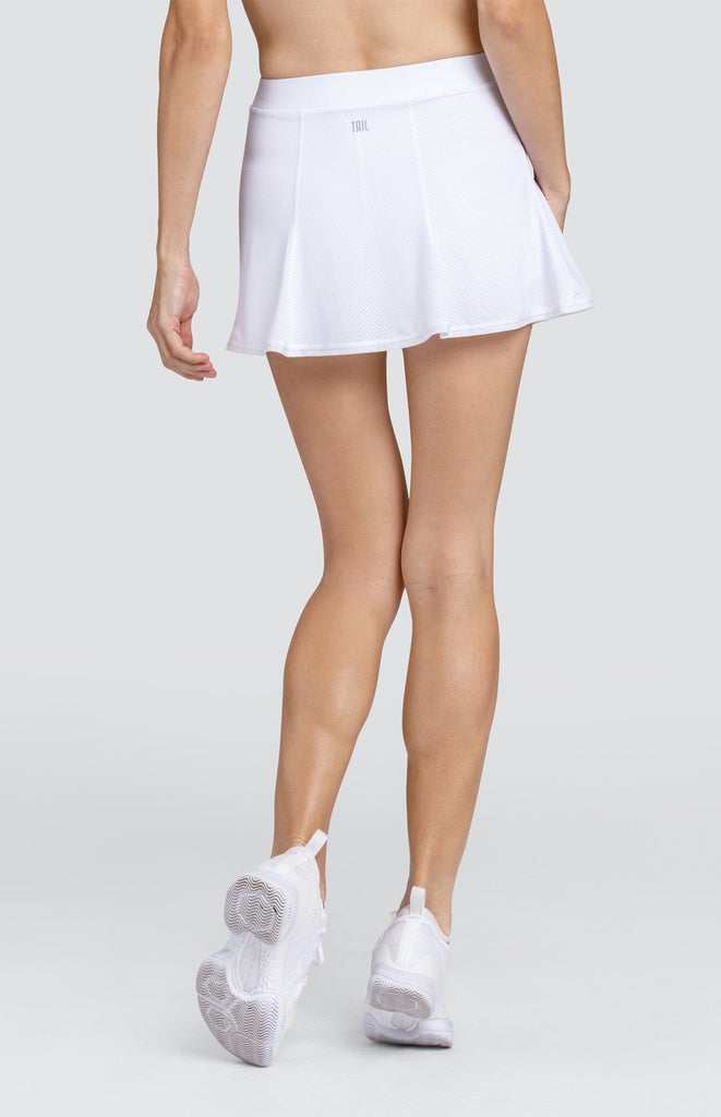 "Kynlee Skort - Chalk White - 13.5"" Length"