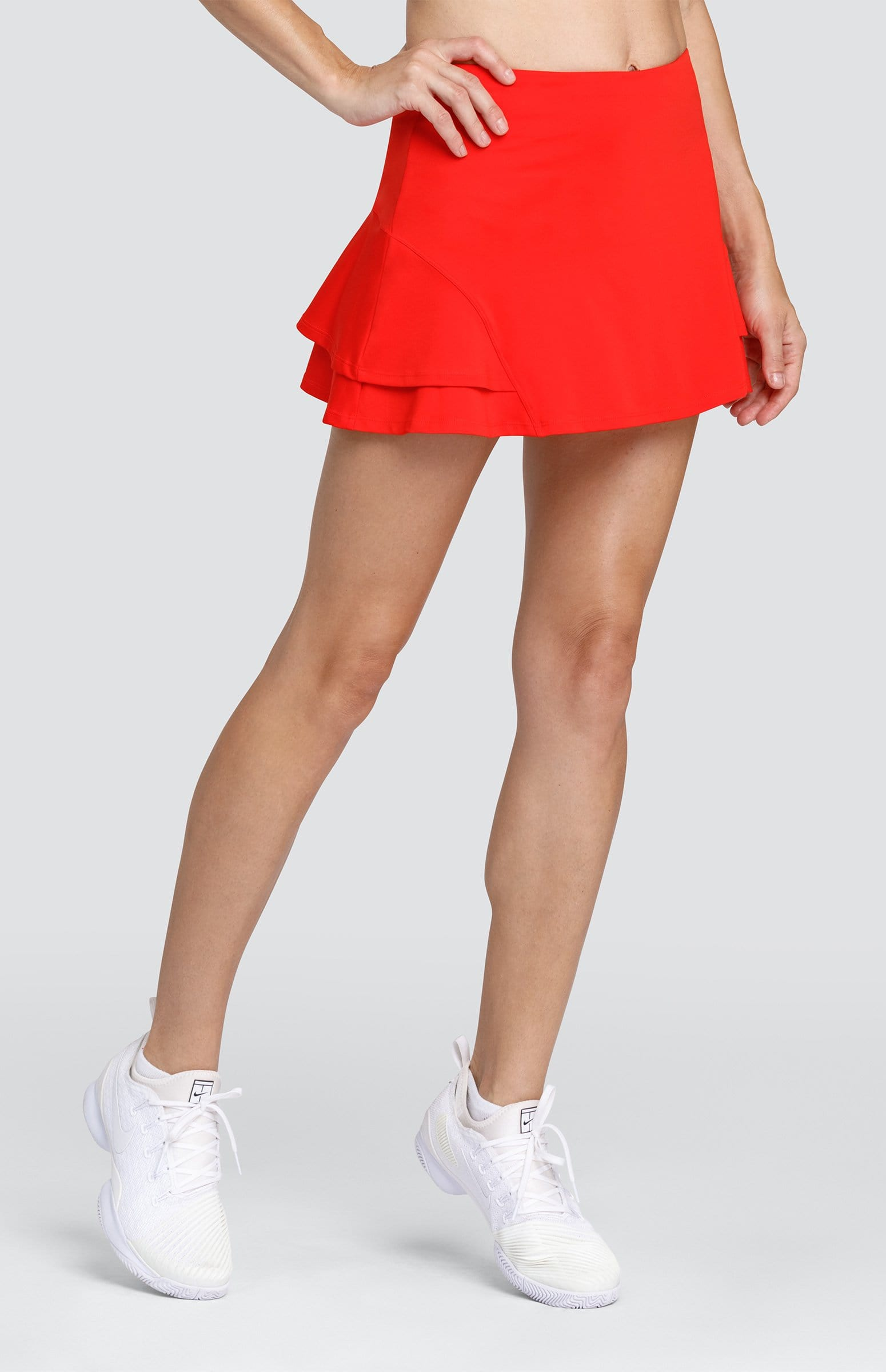 "Hannah Skort - Fiery Red - 13.5"" Length"
