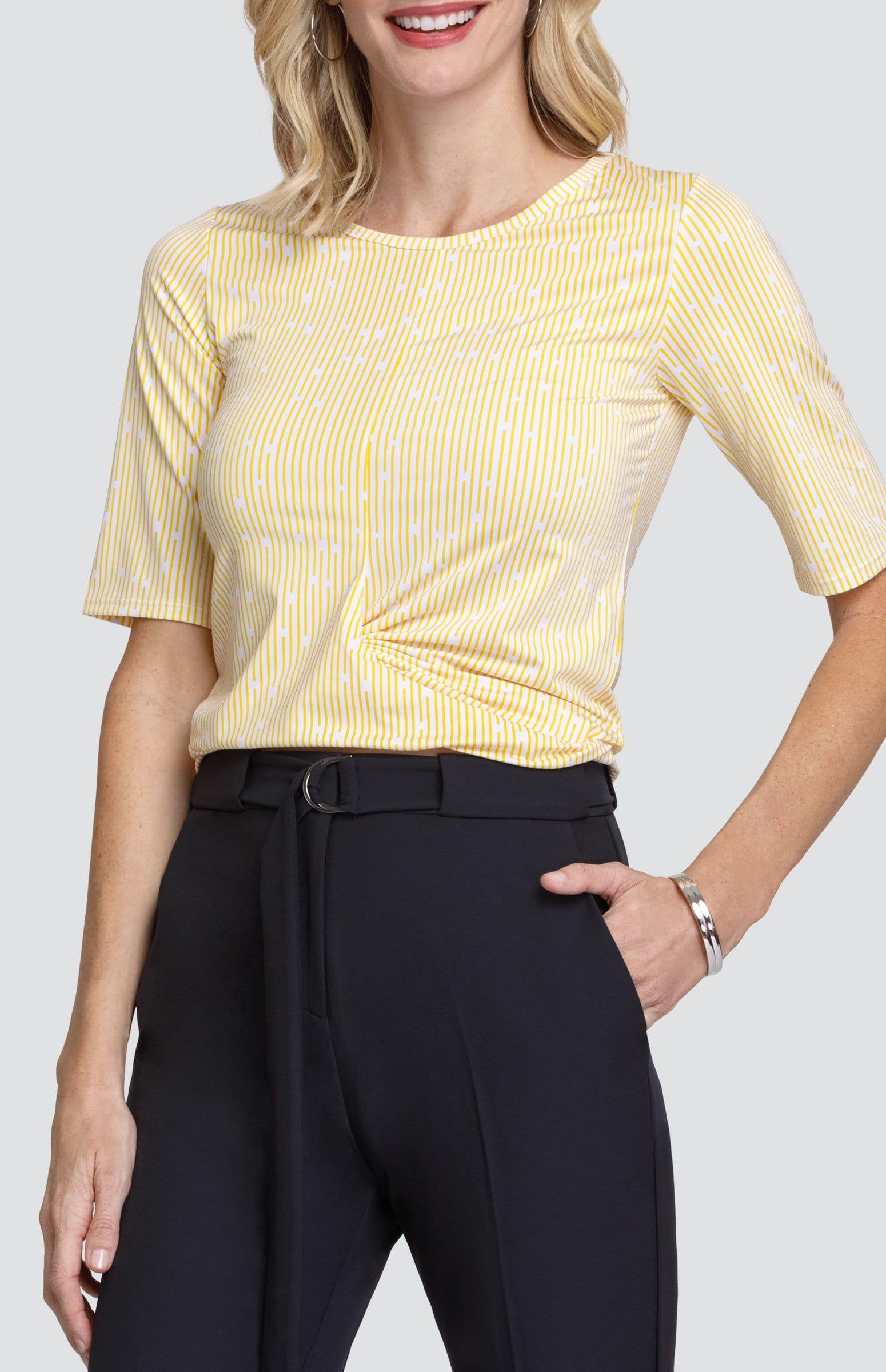 Camille Top - Sunshine Stripes