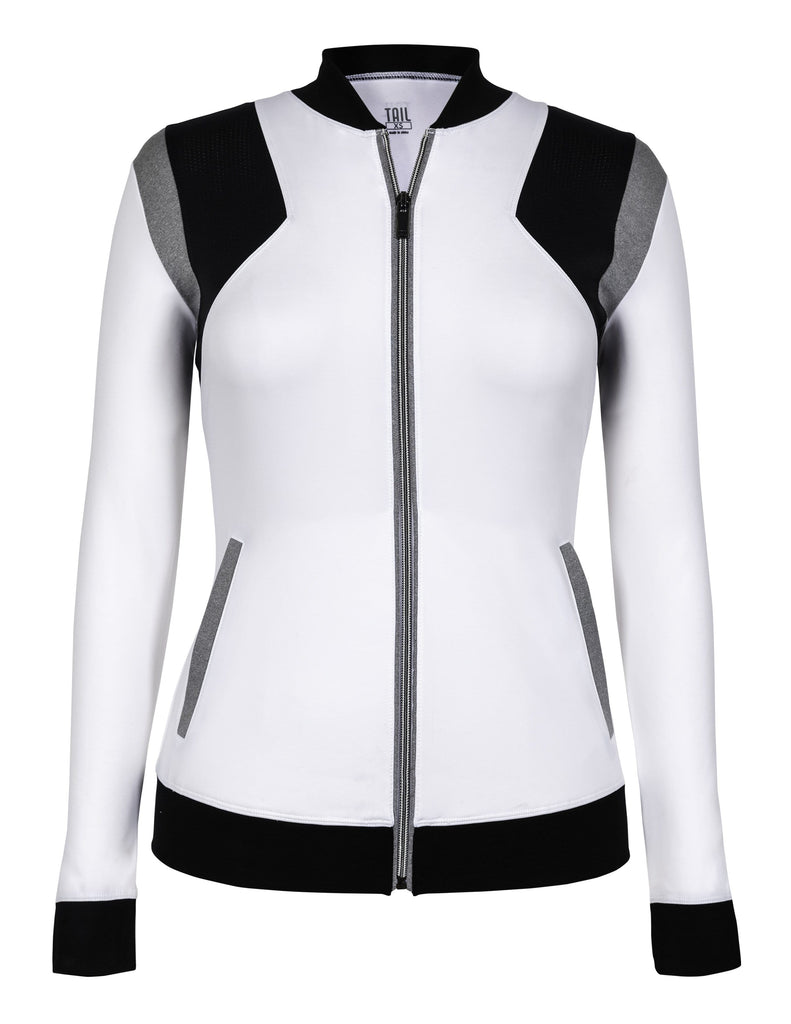 Etta Jacket - White & Black