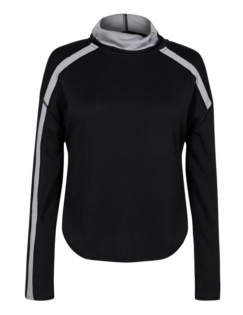 Lauryn Reversible Pullover - Black and Heather
