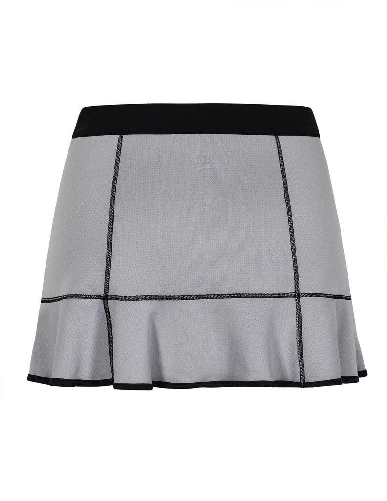 "Leanna Reversible Skirt - Black and Heather - 12.5"" Length"