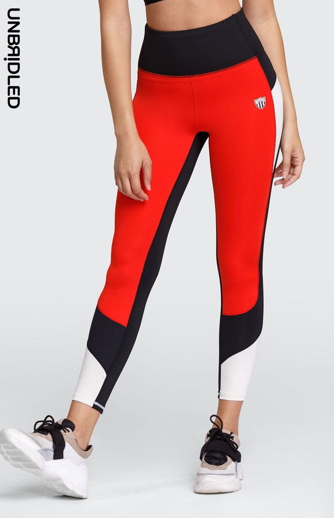 Wilma High Waisted Leggings - Folie Red