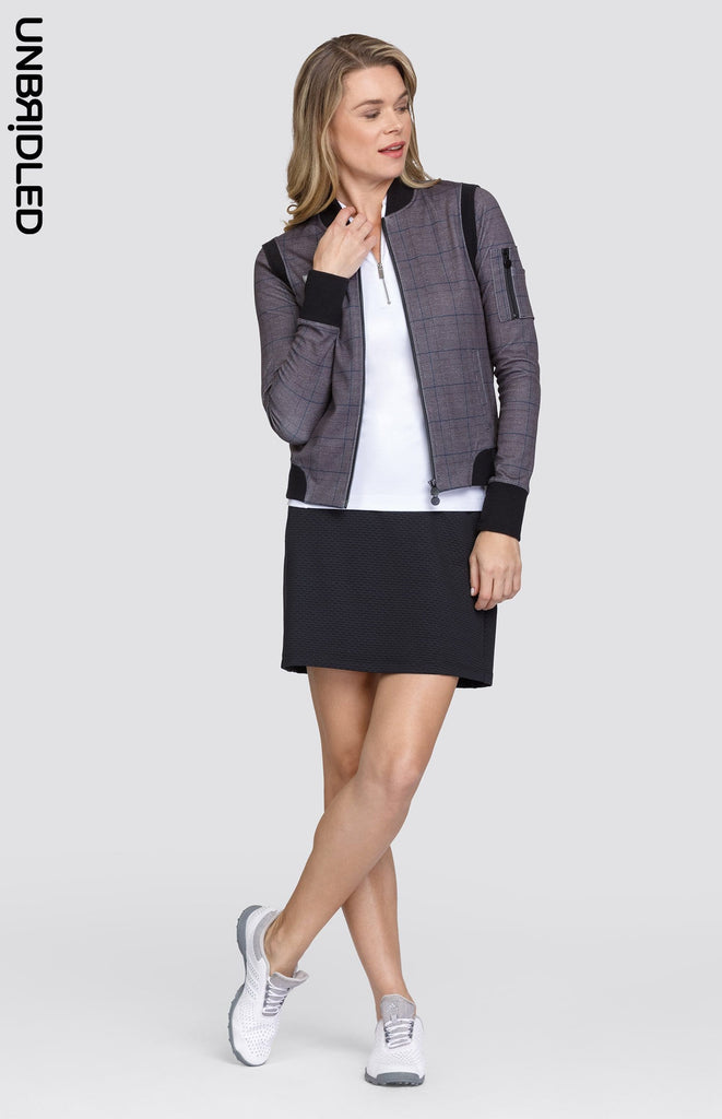 Nora Plaid Bomber Jacket