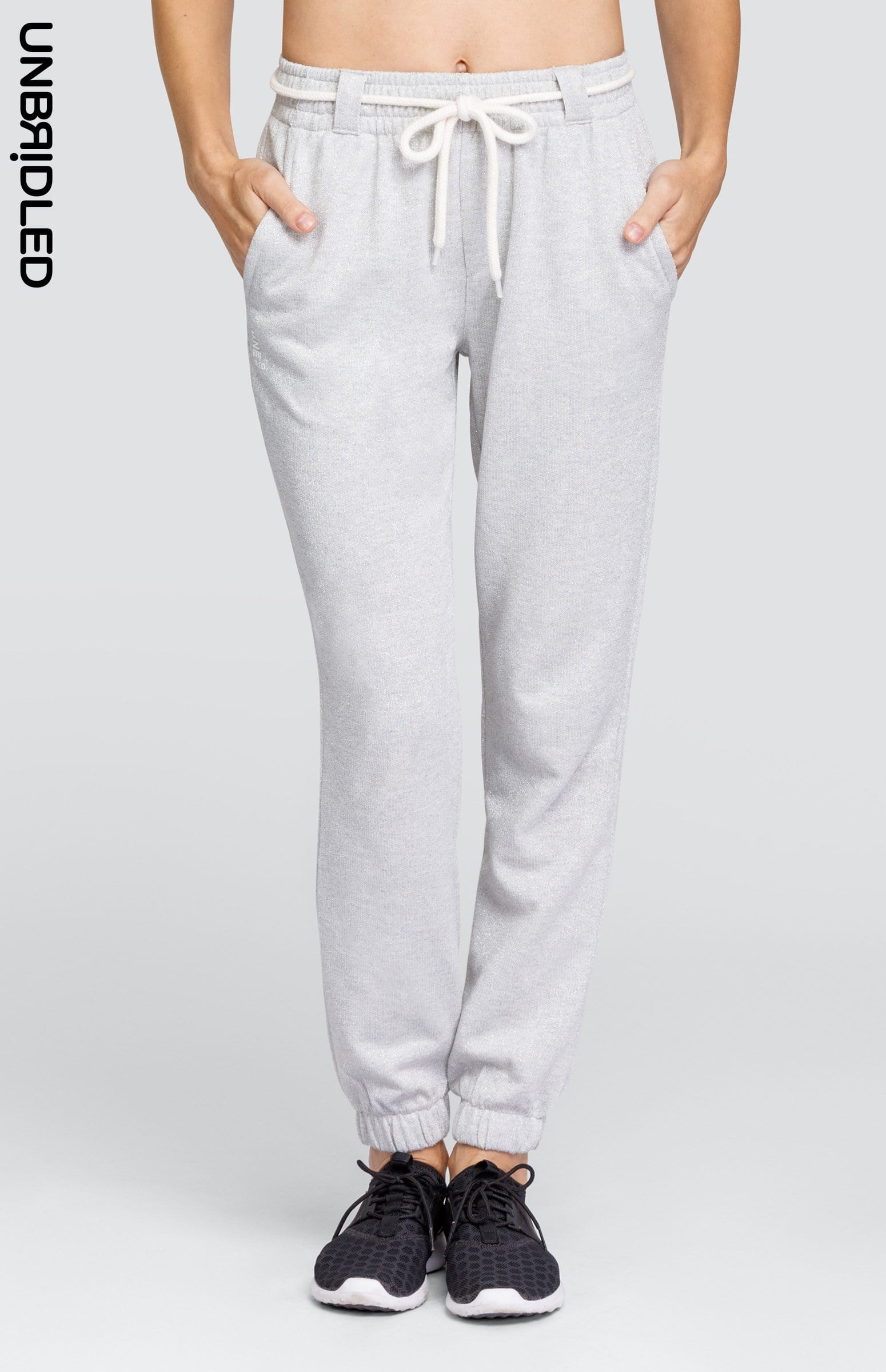 Remi Jogger - Light Grey Lurex