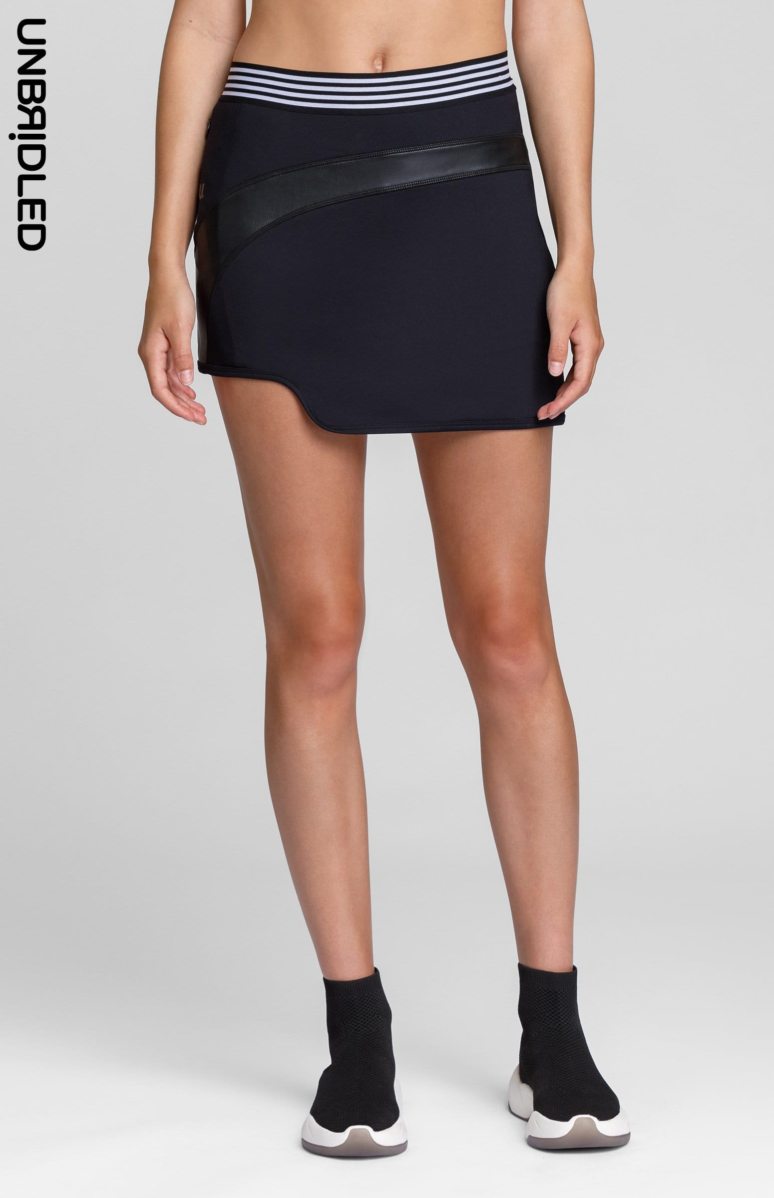 Hedy Faux Leather Skort - Onyx