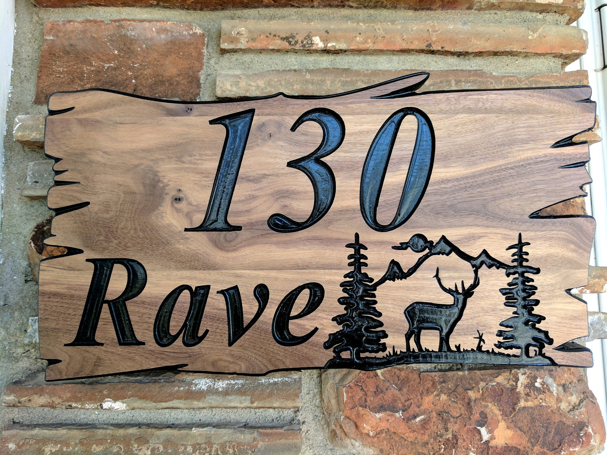 fae433e4e6b8 ... Custom Wood Sign Last Name Sign Rustic House Number Sign Welcome Sign  Mountain Address Sign Home ...