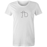 TD - Trackie Dacks Barbed Wire Monogram Logo Womens Crew T-Shirt
