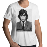 Mick Jagger Classic Mugshot  - Mens Scoop Neck T-Shirt