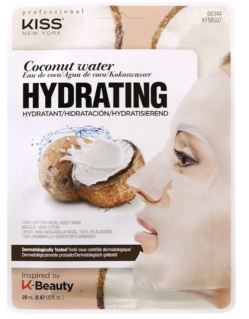 Kiss NY - Cotton Face Mask - Hydrating Coconut