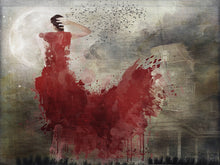 Jane Schultz, 2021 - 'Symphony in Red - Minuet with Birds'