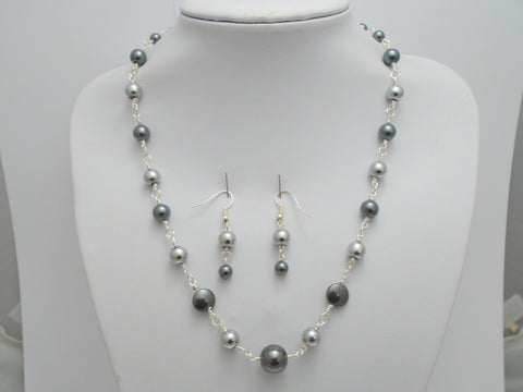 Hematite Beaded Jewelry Set