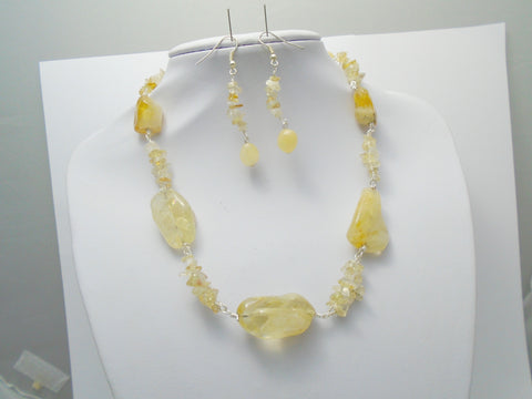 Natural Citrine necklace set