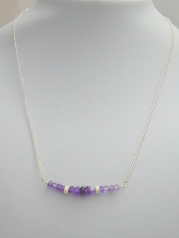 Amethyst Bar necklace