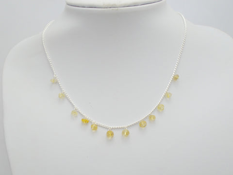 Floating Citrine Necklace