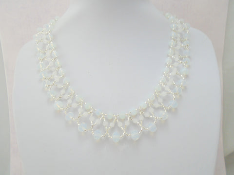 Moonstone Seed Bead Necklace