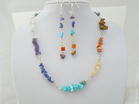 7 Chakra Stone Necklace Set