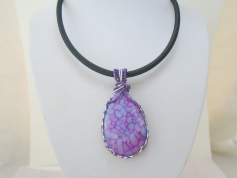 Agate  Wire Wrapped One of A Kind Pendant