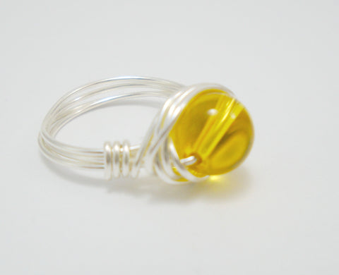 Citrine Wire Ring