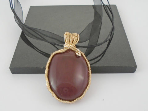 Mookaite Wire wrapped Pendant