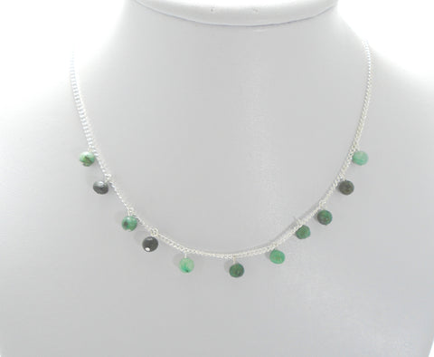 Floating Emerald Necklace