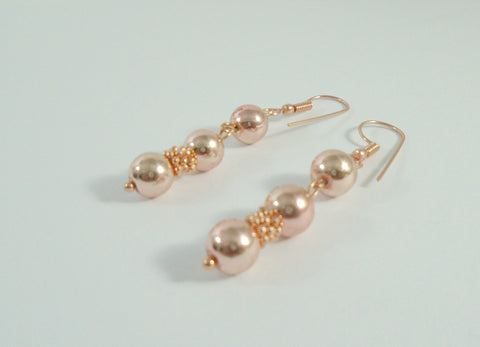 Rose Gold Dangle Earrings