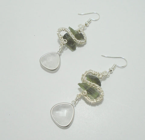 Moldavite Stone Earrings