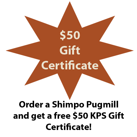 Free $50 Gift Certificate with a Shimpo NRA04 Pugmill